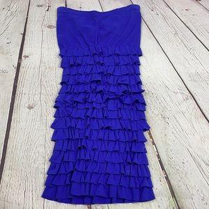 Bebe strapless ruffle seamless mini dress small
